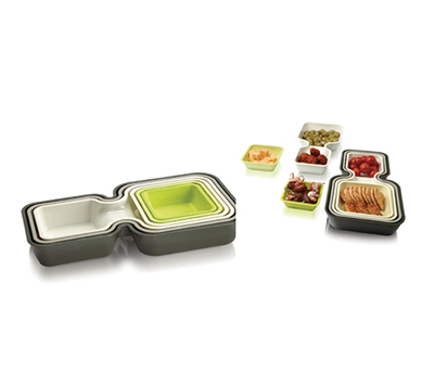 #KT010 6pcs stackable tray
